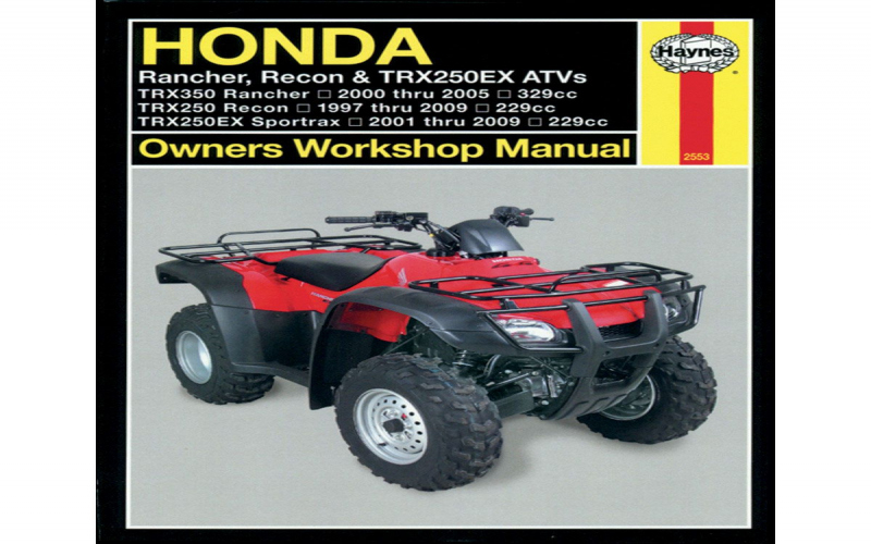 2009 Honda Rancher At Owners Manual