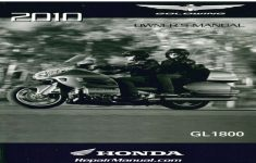 2010 Honda Goldwing Owners Manual