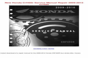 2011 Honda Crf450r Service Manual Free Download