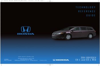 2011 Honda Odyssey Touring Owners Manual