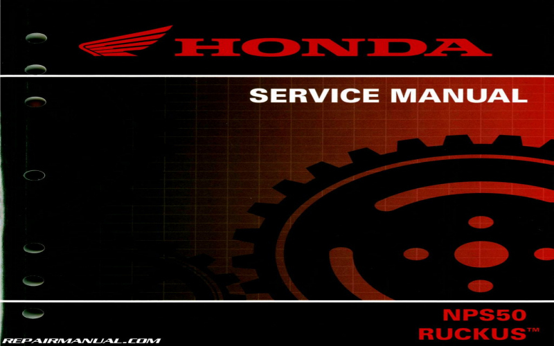2011 Honda Ruckus Owners Manual