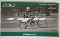 2012 Honda Crf100f Owners Manual