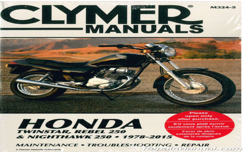 2012 Honda Rebel 250 Owners Manual