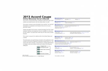 2013 Honda Accord Coupe Owners Manual