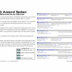 2013 Honda Accord Sedan Ex L Owners Manual