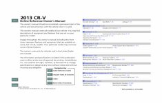 2013 Honda Cr V Exl Owners Manual