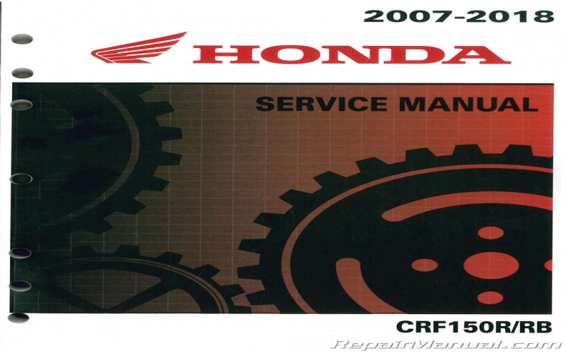2013 Honda Crf150rb Owners Manual