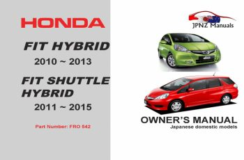 2013 Honda Fit Hybrid Owners Manual