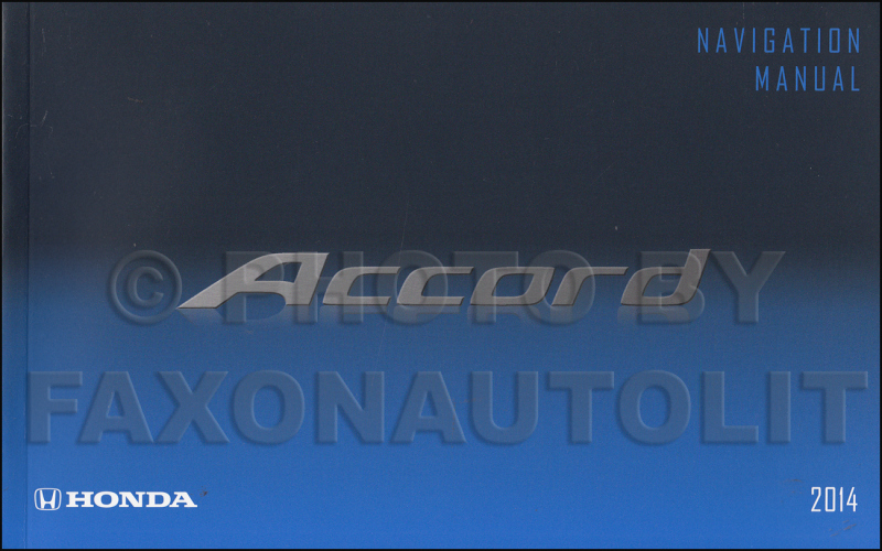 2014 Honda Accord Ex L Owners Manual