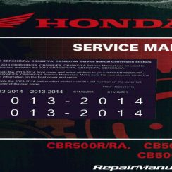 2014 Honda Cbr500r Owners Manual Pdf