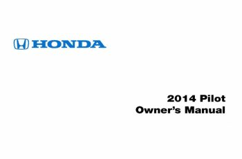 2014 Honda Pilot Ex L Owners Manual