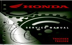 2014 Honda Trx250x Owners Manual