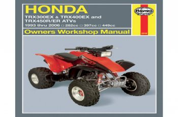 2014 Honda Trx450r Owners Manual