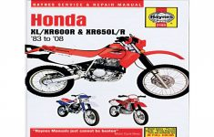 2014 Honda Xr650l Owners Manual