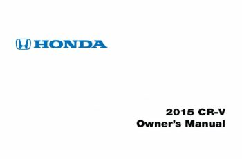 2015 Honda Cr V Owners Manual