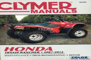 2015 Honda Trx 420 Owners Manual