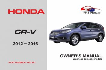 2016 Honda Cr V Owners Manual