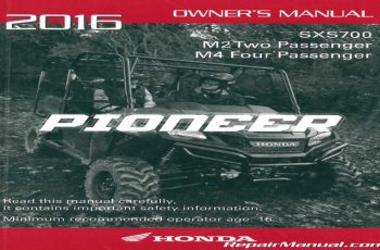 2016 Honda Pioneer 700 4 Owners Manual