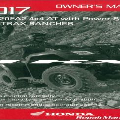 2017 Honda Pioneer Owners Manual