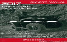 2017 Honda Rancher Owners Manual Pdf