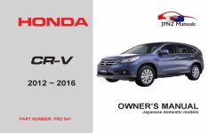 2018 Honda Cr V Owners Manual