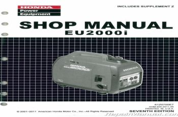 Honda 2000 Generator Owners Manual
