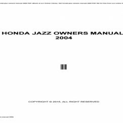 Honda Jazz 2015 Owners Manual Pdf