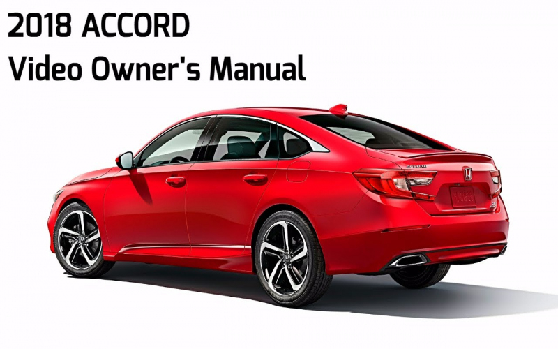 Owners Manual For 2018 Honda Accord