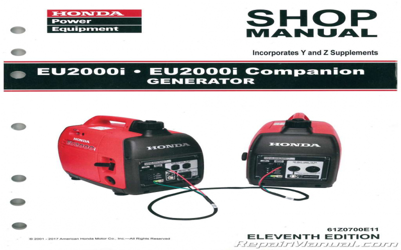 Owners Manual For Honda 2000 Generator