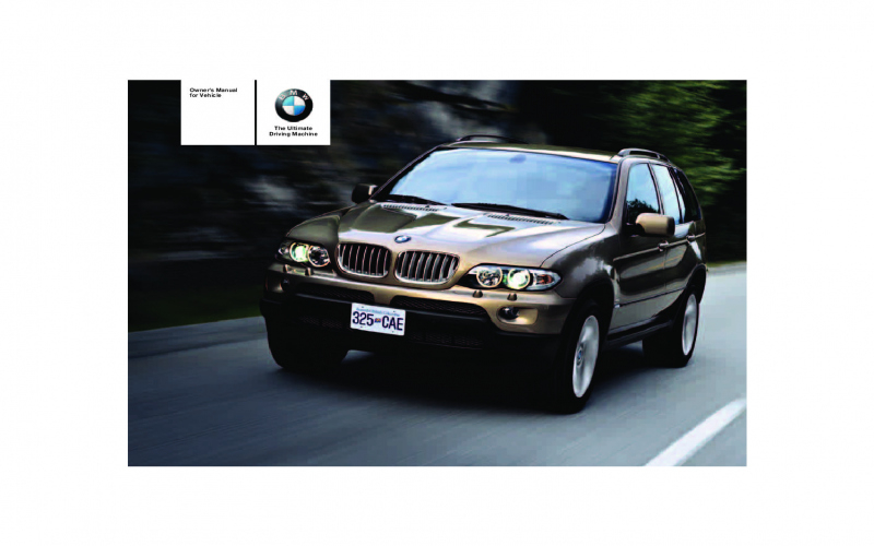 2003 BMW X5 3 0i Owners Manual