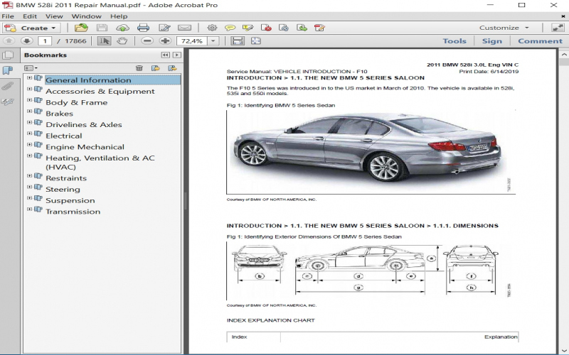 2011 BMW 528i Owners Manual