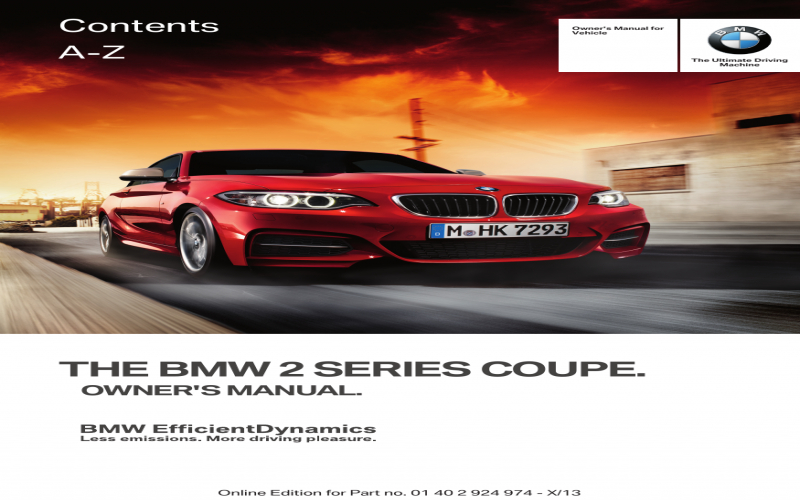 BMW 228i Owners Manual