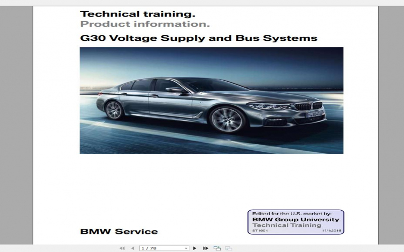 BMW 5 Series G30 Owners Manual