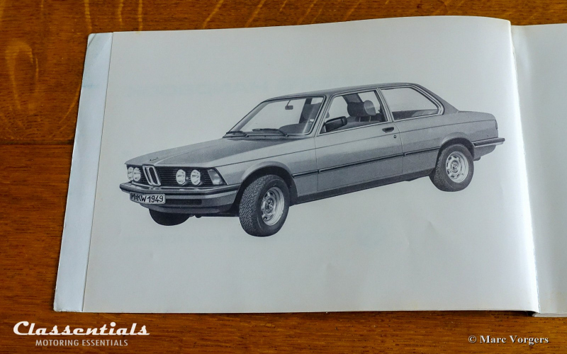 BMW E21 Owners Manual