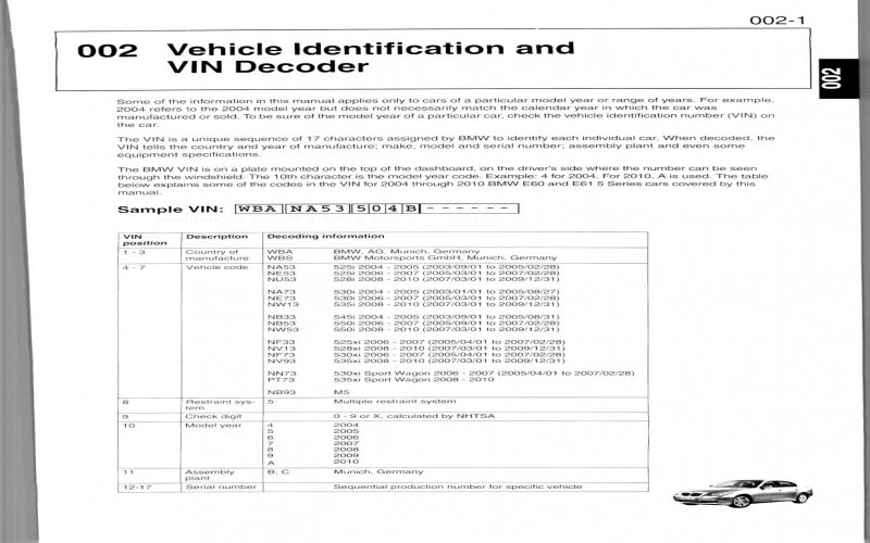 BMW E60 2007 Owners Manual