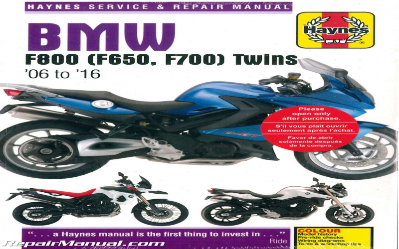 BMW F800s 2007 Owners Manual