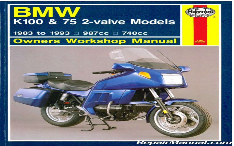 BMW K75 Owners Manual
