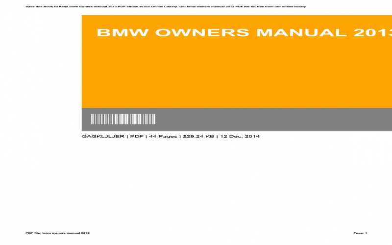 Online BMW Owners Manual