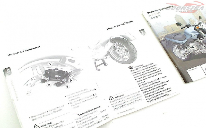 Owners Manual For BMW R1150r