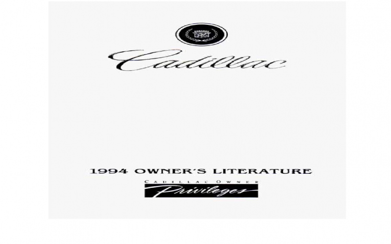 1994 Cadillac Concours Owners Manual