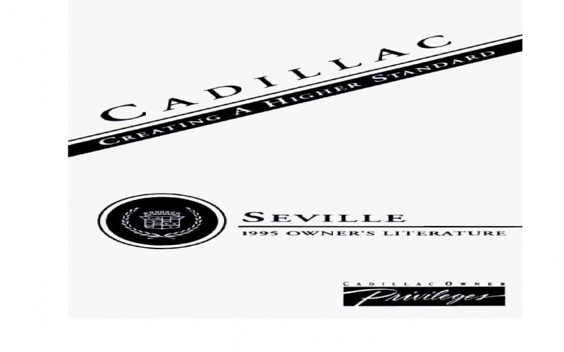1995 Cadillac Seville Owners Manual