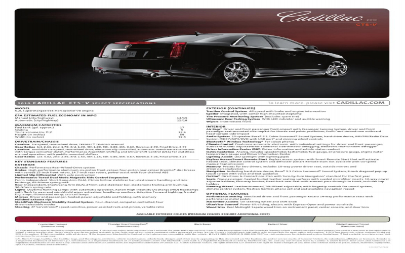 2010 Cts Owners Manual