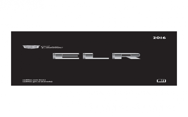 2016 Cadillac Elr Owners Manual