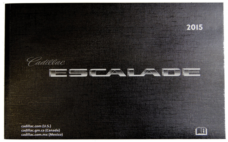 Escalade 2015 Owners Manual
