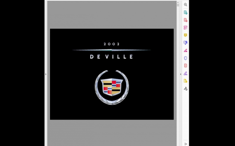 Owners Manual For 2002 Cadillac Deville