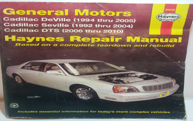 Owners Manual For 2005 Cadillac Deville