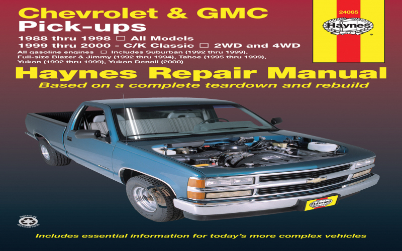 2000 Chevy K3500 Owners Manual
