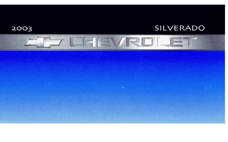 2003 Chevy 1500 Owners Manual