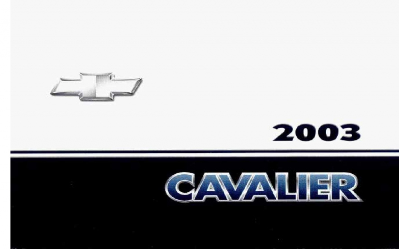 2003 Chevy Cavalier Owners Manual