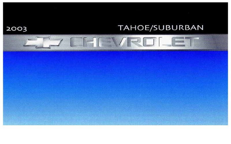 2003 Chevy Suburban Owners Manual Pdf